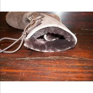 UGG Shoes - New Women UGG Rommy Chocolate Suede Sheepskin Boot